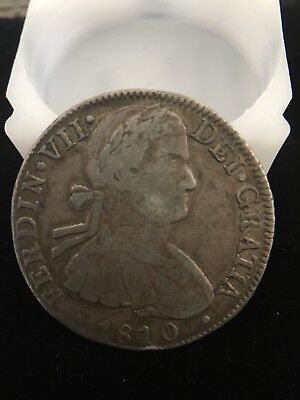 Mexico H J 1810 scarce silver 8 Reales FERDIN VII  war of independence