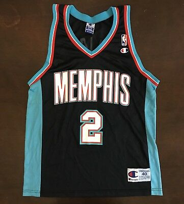 finest selection ee1fe 2551c RARE VINTAGE CHAMPION NBA Memphis Grizzlies Jason Williams Basketball Jersey