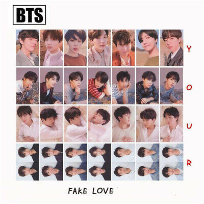 KPOP BTS FAKE LOVE YOURSELF Lomo Photo Cards Album Rounded Autograph Photocard