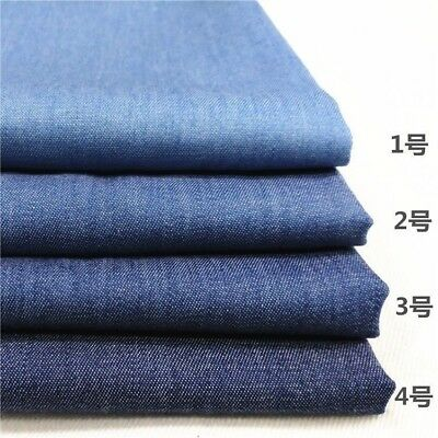 Lightweight Washed 4oz Denim Jeans Fabric 100% Cotton Canvas Clothing Material