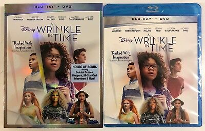 New Disney A Wrinkle In Time Blu Ray Dvd 2 Disc Set + Slipcover Wlmart Exclusive
