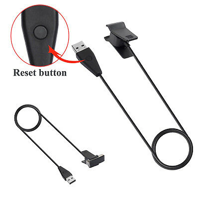 USB Charging Clip Charger Cable w/Reset Button for Fitbit Alta /Ace Kids Tracker