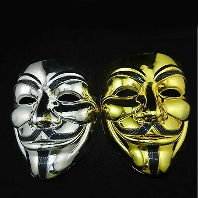 2x Funny V for Vendetta Halloween Fancy Cosplay Party Create Guy Anonymous Mask