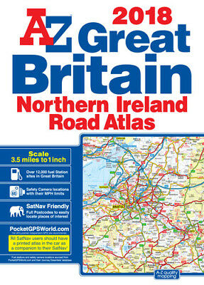 Great Britain Road Atlas: 2018 by A-Z Map (A3 Paperback)