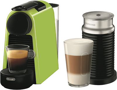 NEW Nespresso EN85LAE Delonghi Essenza Mini Capsule Machine - Lime Green