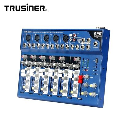 7Channel Audio Mixer USB Studio Sound Card Mixing Console Reverb Monitor Karaoke