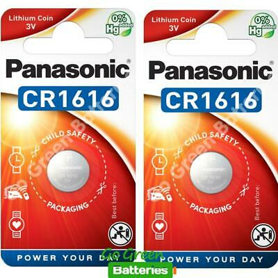 2 x Panasonic CR1616 3V Lithium Coin Cell Battery 1616 DL1616 BR1616 2028 EXP