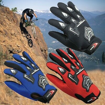 Professional Sport Full Finger Leather Guantes Moto Cycling Motorcycle Gloves