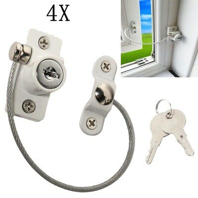 4PCS Window Door Restrictor Safety Locking UPVC Child Baby Security Wire Cable