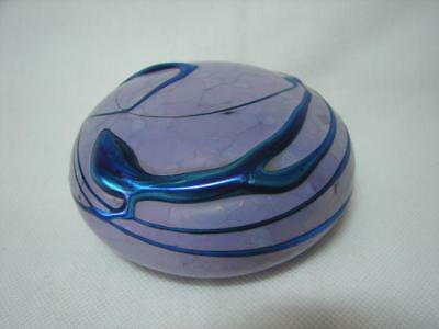 Vintage Retro Studio Art Glass Irridescent Paperweight Peter Tomlinson 1978