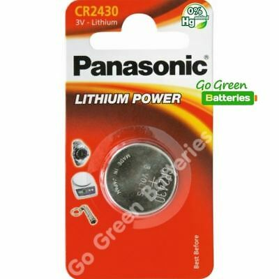 1 x Panasonic CR2430 3V Lithium Coin Cell Battery 2430, DL2430, 2028 EXP