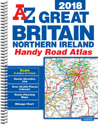 Great Britain Handy Road Atlas 2018 (A5 Spiral) by A-Z Map