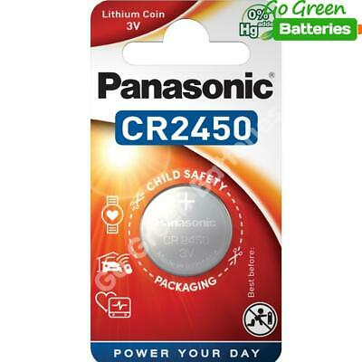 1 x Panasonic CR2450 3V Lithium Coin Cell Battery 2450, DL2450, BR2450 2028 EXP