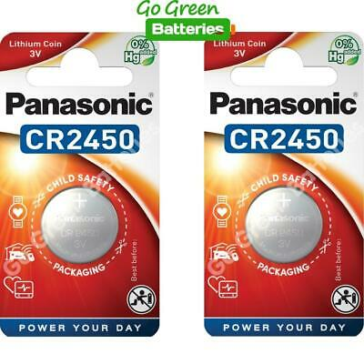 2 x Panasonic CR2450 3V Lithium Coin Cell Battery 2450, DL2450, BR2450 2028 EXP