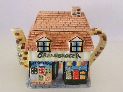 "Vintage "" Greengrocer"" ANNIE ROWE Teapot ,Mint Condition BARGAIN BUY"
