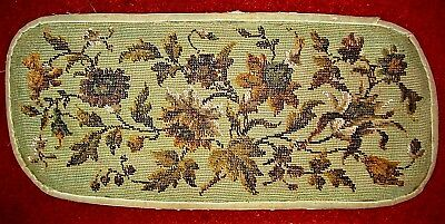 Antique bead work with flowers green background