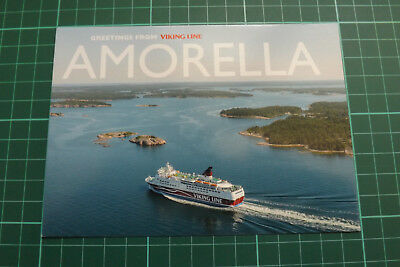 Ak Postkarte Schiffe. GREETINGS FROM AMORELLA - VIKING LINIE