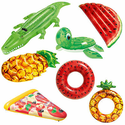 Bestway Inflatable Pool Float Holiday Flamingo Peacock Pizza Crocodile Party Fun