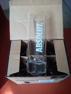 6 verres Vodka ABSOLUT tube 22 cl