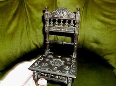 Rare And Unusual Antique Treen Carved & Turned Wooden Salesman's Sample Chair
