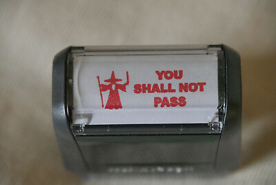 "Textstempel Selbstfärber Trodat Ideal 4911 ""YOU SHALL NOT PASS"""