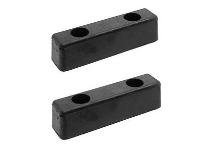 "2 x Rubber Buffer 8"" x 2"" 200mm x 50mm Truck Trailer Horsebox Tailboard Bumper"