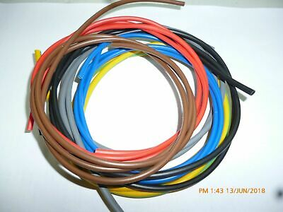 Electrical PVC Sleeving 3mm 4mm 6mm Wire Cable Earth Brown Red Blue Black Tubing