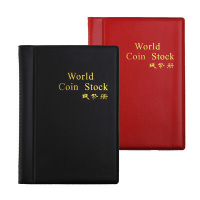 2pc 60 Pockets Paper Money Collection Album Leather Bill Notes Book Holder#B