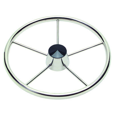 "Ongaro 170 13.5"" Stainless 5-Spoke Destroyer Wheel w/ Black Cap and Standard ..."