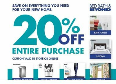 Bed Bath Beyond 20 Off Entire Purchase Coupon In And Online Exp