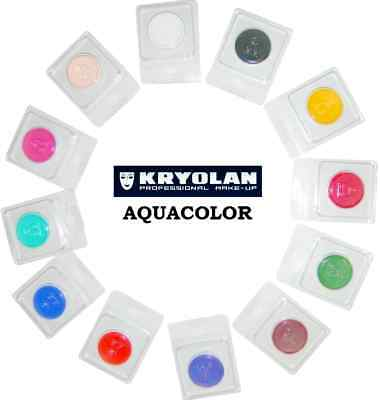 KRYOLAN AQUACOLOR 4 ml cialda truccabimbi trucco professionale make-up