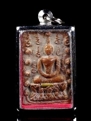 thai buddha amulet Magic Powder PHRA SOMDEJ LP MOON WAT BAN Embed Takrut