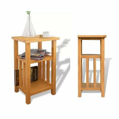 Bedside Table Cabinets Nightstand With 3 Drawers 40 x 30 x 54 cm Oak Burlywood