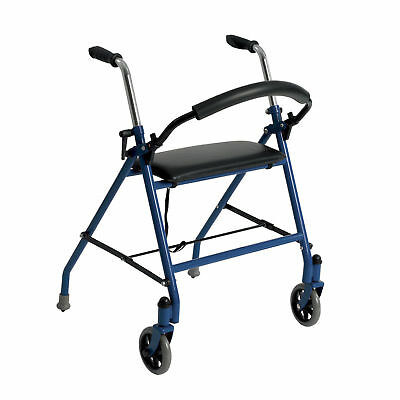 Two Wheeled Walker with Seat, Blue