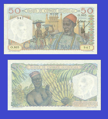 French West Africa 50 francs 1947 UNC - Reproduction