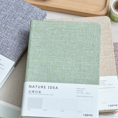 """Nature Idea"" 1pc Linen Hard Cover Notebook Diary Freenote Business Journal Gift"