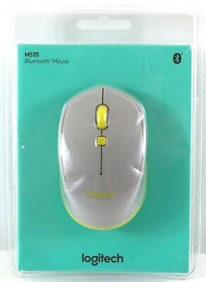 LOGITECH M535 BLUETOOTH Grey Wireless Optical Mouse Compact