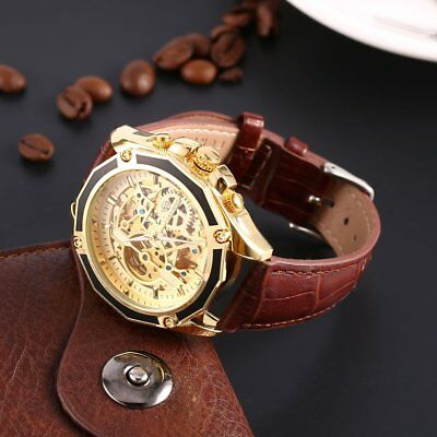 Life Waterproof Fully Automatic Mechanical Men's Watch Hollow Out Watch Dial HG