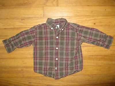 bc55c390f GYMBOREE BOYS SIZE 6-12 Months Green Red Plaid Button Down Collared Dress  Shirt - $14.99 | PicClick