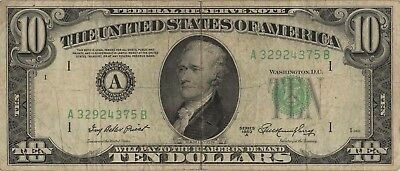 10 Dollars Serie 1950A District Boston VF Kat.-Fr.2011A