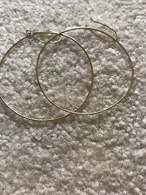 2ac1aa4a080bb Lana Flat Magic 14kt large Yellow Gold Wire Hoop Earrings. One owner-ME!
