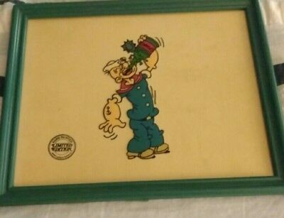 VTG POPEYE Limited Edition Sericel King Features Syndicate Inc CEL CARTOON RARE