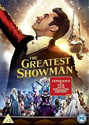 THE GREATEST SHOWMAN (Film+Singalong) DVD in Inglese NUOVO