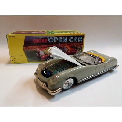 LUCKY OPEN CAR  MF787 - FRICTION DRIVE 60's VINTAGE TIN TOY MC41893