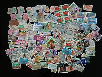Bahamas Delux Kiloware Mix Of 300+ Used & Mint Inc Some On Paper & Better