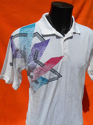 a178ec5363 VINTAGE 90s Polo Shirt Maillot Jersey Casual Sport Indie Old School Tennis  Rock