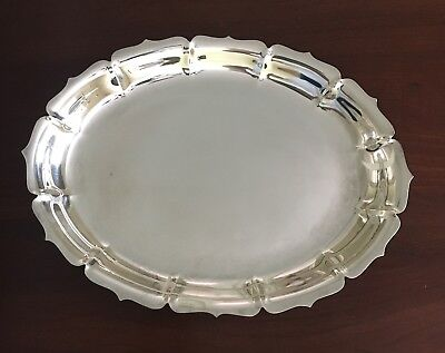 """Early Dublin Lunt Silver Plate 11"""" Oval Tray"""