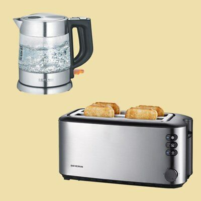 Severin Set - Wasserkocher WK 3468 + Doppel-Langschlitz-Toaster AT 2509