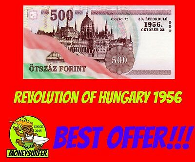 Hungary Revolution 1956 Commerative 500 Forint Banknote 2006 Very Nice FREE SHIP