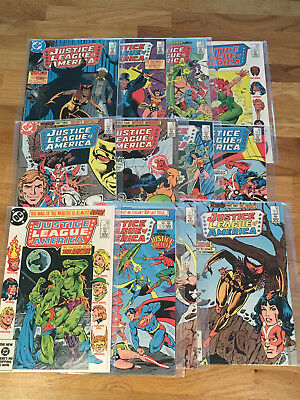 JUSTICE LEAGUE of AMERICA Lot of 13 DC Books - #230-242,  all Near Mint